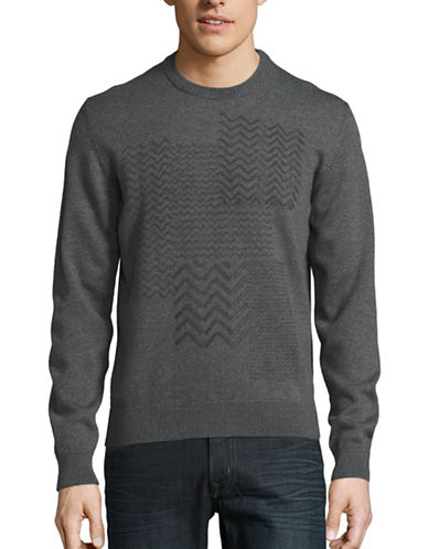 Z Zegna Crew Neck Wool Sweater-GREY-Small 88547368_GREY_Small