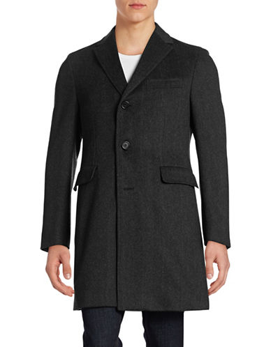 Z Zegna Wool-Blend Overcoat-CHARCOAL-EU 46/X-Small