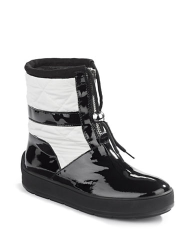 Aquatalia Kali Patent and Quilted Boots-BLACK WHITE-6