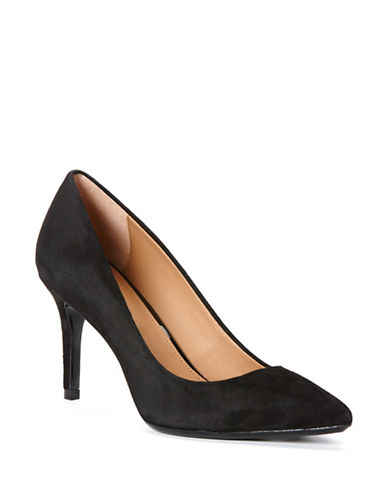 Calvin Klein Gayle Leather Pumps-BLACK-8.5