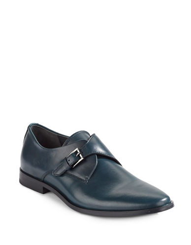 Calvin Klein Norm Leather Monk Strap Shoe-NAVY-8