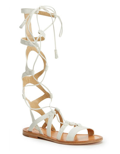 Frye High Leather Gladiator Sandals-WHITE-7