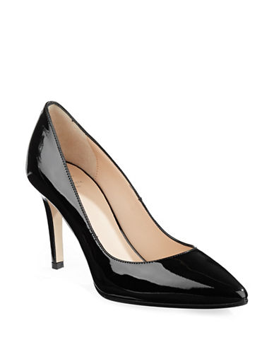 Aquatalia Patent Leather Pointed Heels-BLACK-5