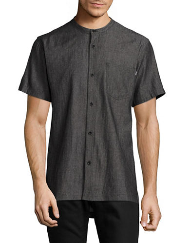 Fairplay Harshel Mandarin Collar Shirt-BLACK-Medium