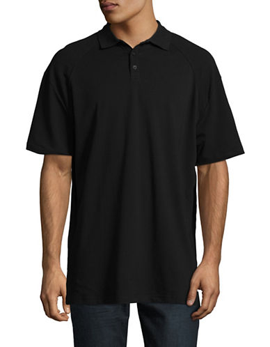 Fairplay Willie Knit Polo-BLACK-Small