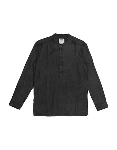 Fairplay Desmond Woven Shirt-BLACK-Small