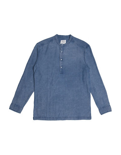 Fairplay Desmond Woven Shirt-INDIGO-Small