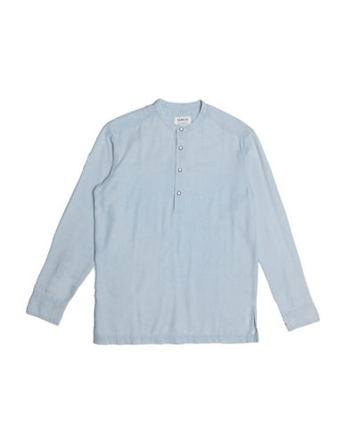 Fairplay Desmond Woven Shirt-BLUE-Small