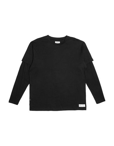 Fairplay Kenyon Knit Jersey Cotton Tee-BLACK-Medium