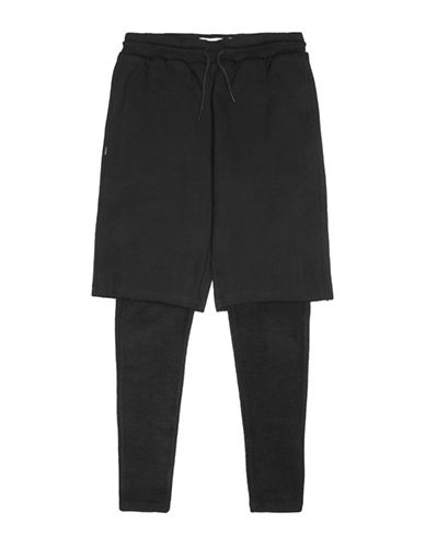 Fairplay Milford Knit Shorts with Leggings-BLACK-Large