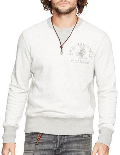Denim & Supply Ralph Lauren Cotton-Blend Fleece Sweatshirt-GREY-Small 87937704_GREY_Small