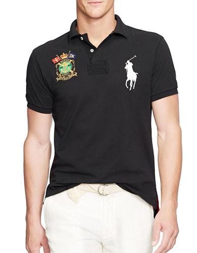 Polo Ralph Lauren Slim-Fit Nautical-Crest Polo Shirt-POLO BLACK-Large