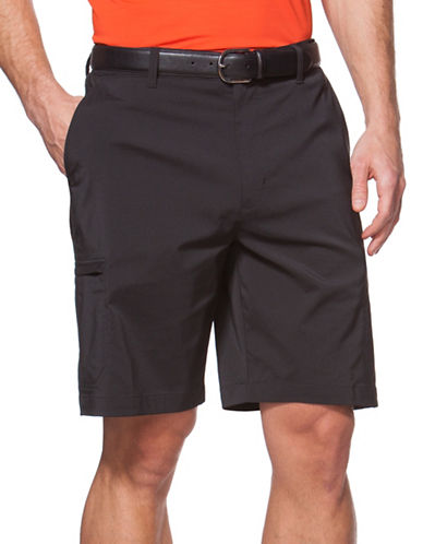 Chaps Big and Tall Golf Cargo Shorts-BLACK-46 Big