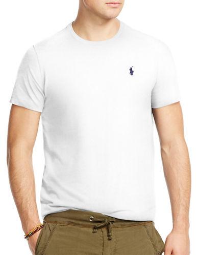 Polo Ralph Lauren Custom-Fit Crew Neck T-Shirt-WHITE-X-Large 88164802_WHITE_X-Large