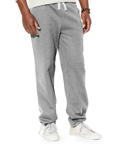 Polo Ralph Lauren Classic Fleece Drawstring Pants-ALASKAN HEATHER-Small