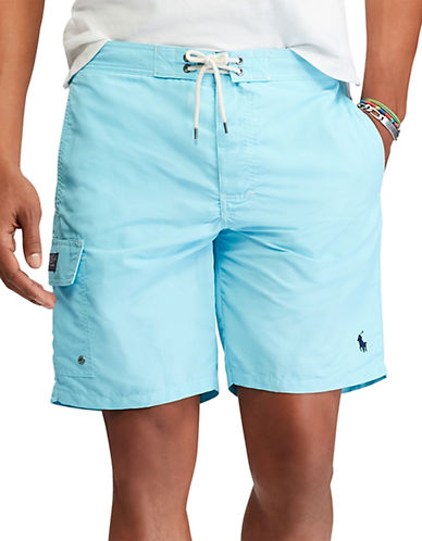 Polo Ralph Lauren Kailua Swim Trunks-HAMMOND BLUE-Small