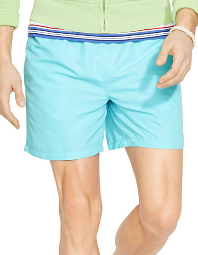 Polo Ralph Lauren Hawaiian Swim Boxers-HAMMOND BLUE-XX-Large