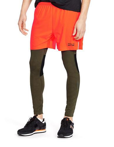 Polo Sport Quick Wick Twill Running Tights-OLIVE-X-Large 88237429_OLIVE_X-Large