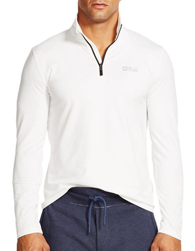 Polo Sport Half Zip Stretch Jersey Sweater-PURE WHITE-X-Large 88193003_PURE WHITE_X-Large