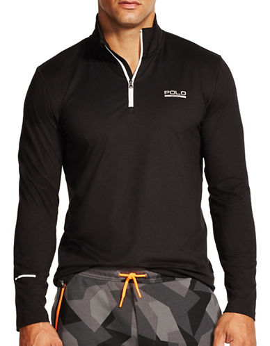Polo Sport Half Zip Stretch Jersey Sweater-POLO BLACK-Large 88193005_POLO BLACK_Large