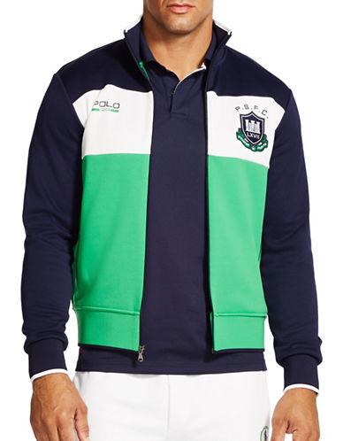 Polo Sport Colourblocked Fleece Track Jacket-GREEN-X-Large 88193068_GREEN_X-Large