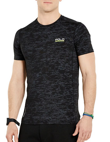 Polo Sport Printed All-Sport Compression T-Shirt-POLO BLACK AURORA-X-Large 88237484_POLO BLACK AURORA_X-Large