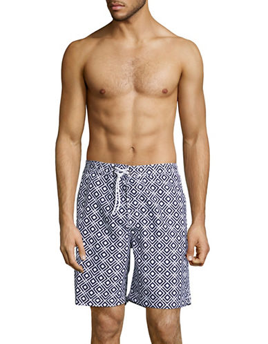 Trunks Surf + Swim Diamond Tile Swim Shorts-BLUE-Medium