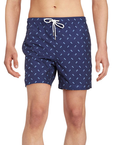 Black Brown 1826 Pineapple-Print Swim Shorts-BLUE-X-Large 89256959_BLUE_X-Large