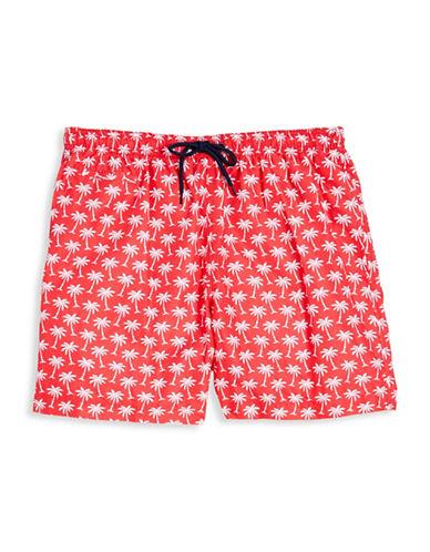 Trunks Surf + Swim Palm Tree Swim Shorts-RED-X-Large