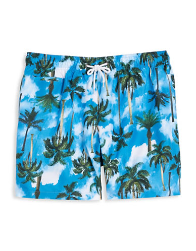 Trunks Surf + Swim Palm Tree Swim Shorts-BLUE-X-Large 89741508_BLUE_X-Large