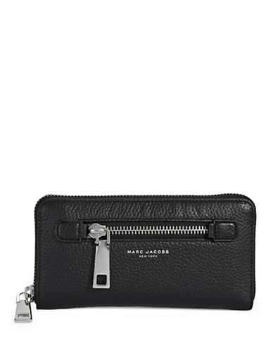 Marc Jacobs Standard Continental Leather Wallet-BLACK-One Size