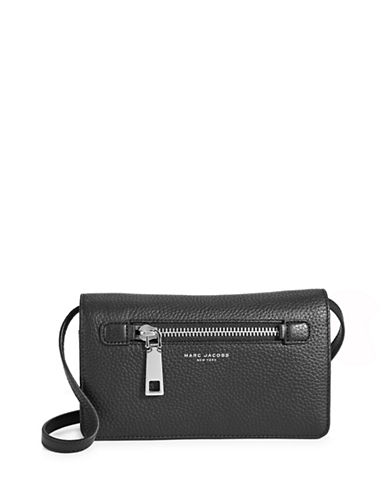 Marc Jacobs Gotham City Wallet Bag-BLACK-One Size