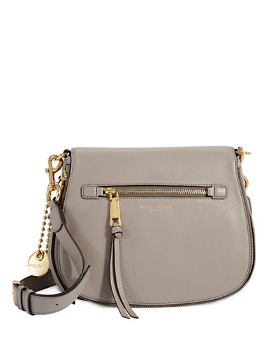 Marc Jacobs Leather Saddle Bag-MINK-One Size