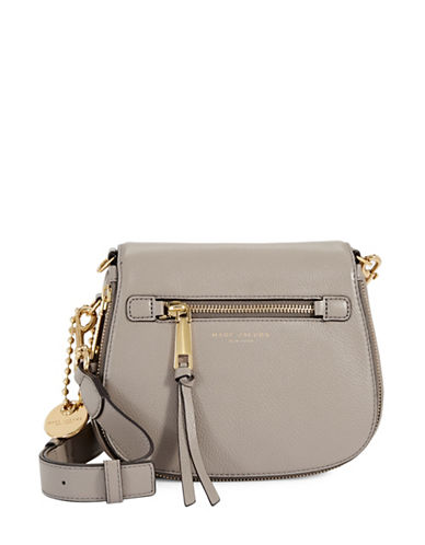 Marc Jacobs Small Nomad Leather Flap Crossbody-MINK-One Size