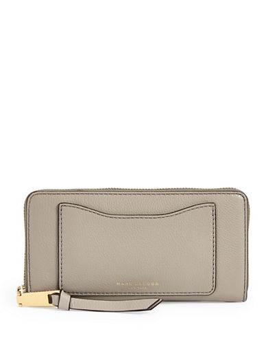 Marc Jacobs Leather Continental Wallet-BROWN-One Size