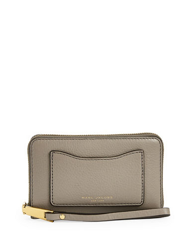 Marc Jacobs Recruit Leather Phone Wallet-BROWN-One Size