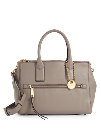 Marc Jacobs Recruit Pebbled Leather Satchel-MINK-One Size