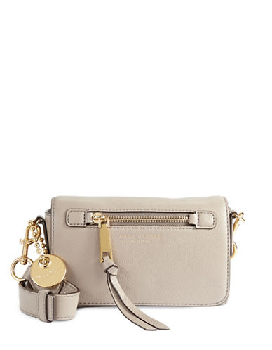 Marc Jacobs Recruit Leather Crossbody Bag-MINK-One Size