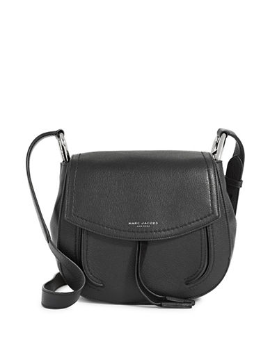 Marc Jacobs Maverick Leather Shoulder Bag-BLACK-One Size