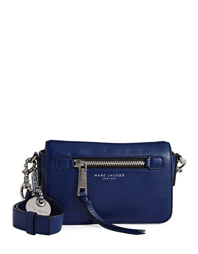 Marc Jacobs Recruit Leather Crossbody Bag-DARK BLUE-One Size