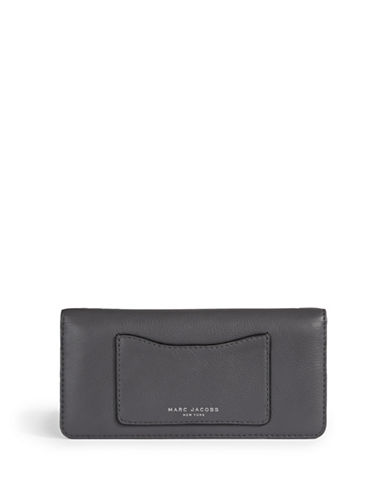 Marc Jacobs Recruit Leather Wallet-GREY-One Size