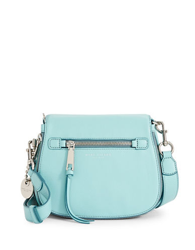 Marc Jacobs Small Nomad Leather Flap Crossbody-BLUE-One Size