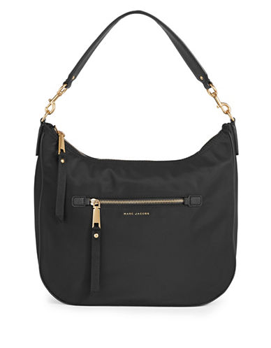 Marc Jacobs Trooper Nylon Hobo Bag-BLACK-One Size