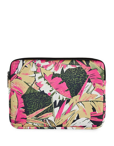 Marc Jacobs 13-Inch Neoprene Palm-Print  Computer Case-PINK-One Size