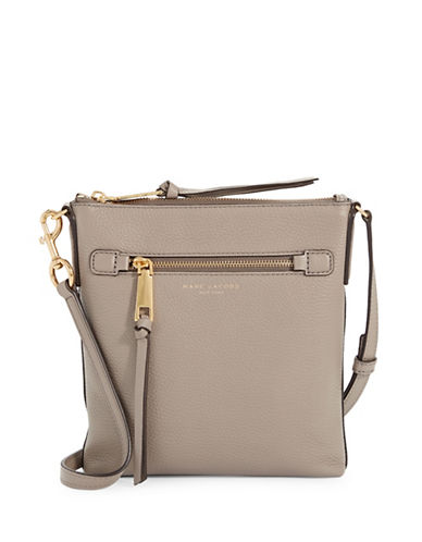 Marc Jacobs Recruit NS Leather Crossbody Bag-MINK-One Size