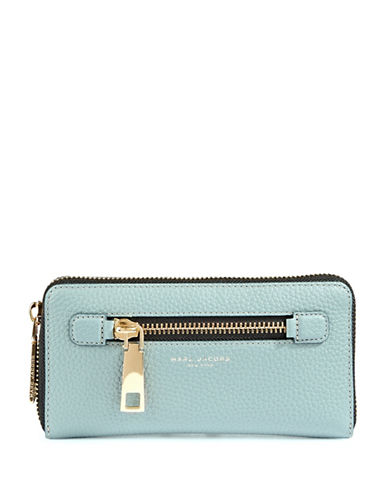 Marc Jacobs Standard Continental Leather Wallet-BLUE-One Size