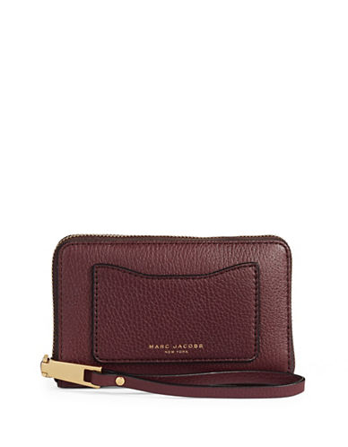 Marc Jacobs Recruit Leather Phone Wallet-RED-One Size