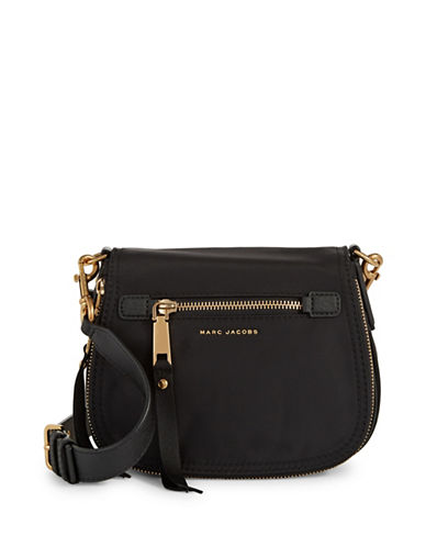 Marc Jacobs Trooper Small Saddle Bag-BLACK-One Size