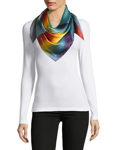 Marc Jacobs Rainbow Silk Oblong Scarf-MULTI-One Size
