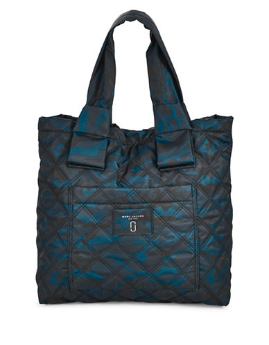 Marc Jacobs Camo Print Knotted Tote-BLUE-One Size
